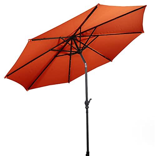 COSTWAY Ø300cm Sonnenschirm orange,...