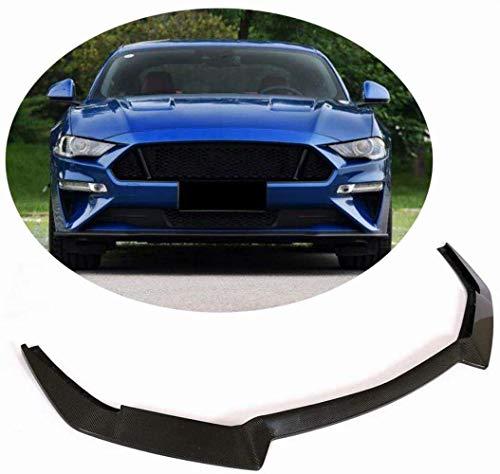 HYCy Alerón Delantero para Ford Mustang GT V8 Coup & Eacute;Divisor de mentón de Labios de Parachoques Delantero de Fibra de Carbono Cabrio 2018 2019