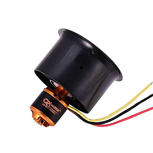 QX-Motor QF2611 3500KV Brushless Motor with 55mm 6 Paddle EDF Ducted Fan Culvert Motor Suit for RC Fixed Wing Drone Ducted