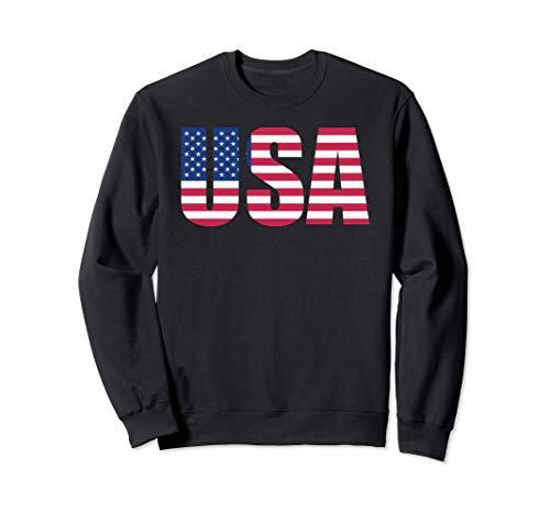 USA Flag Shirt, Estados Unidos de América, Mapa de bandera Sudadera