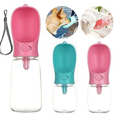 PETnSport Portable Water Dispenser - Light weight Leak proof Outdoor Walks Pet Dog Water Bottle