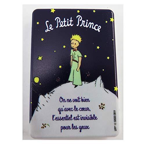 Le Petit Prince [Q9493] - Miroir de poche 'Le Petit Prince' bleu (nuit étoilée) - 8.5x5.5 cm