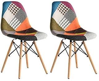 Chaises de Salle à Manger Ensemble de 2 x comptoirs Lounge de Loisirs Chaises de Coin de Salon Chaises Multicolur Chaises ...