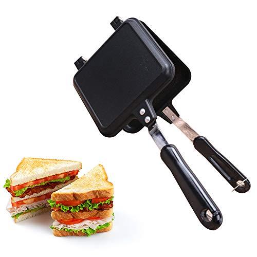 OUJIN Toastie Maker Toastie Maker Toasted Sandwich Maker Antihaftbeschichtung und hitzebeständige Griffe Geeignet für den Außenbereich ohne Strom