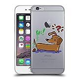 Head Case Designs Licenciado Oficialmente Grace Illustration Salchicha Perros Carcasa de Gel de Silicona Compatible con Apple iPhone 6 / iPhone 6s