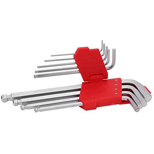 Bicaquu 1,5-10,0 mm Reparatur Handwerkzeug, Nähmaschine Reparaturwerkzeuge 9 Stück L-Form Kugelschreiber Inbusschlüssel Wartungswerkzeug, Reparatur für Heimnähmaschine