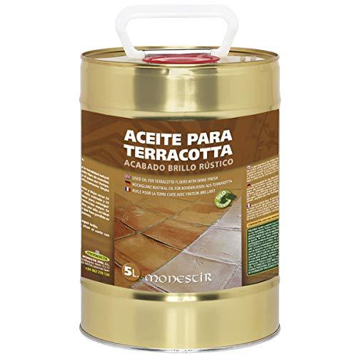 Aceite para suelos Terracotta o Barro. Acabado brillo rústico. Monestir (5 L)