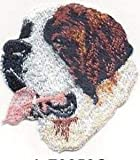 VirVenture 2 3/4' St. Saint Bernard Dog Breed Portrait Embroidery Patch Great for Hats, Backpacks, and Jackets.