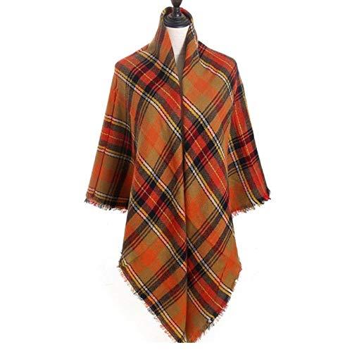 Sjaal Winter SjaalLuxe Dames Sjaals Gebreide Warme Sjaals En Omslagdoeken Plaid Grote Vierkante Deken Lady F