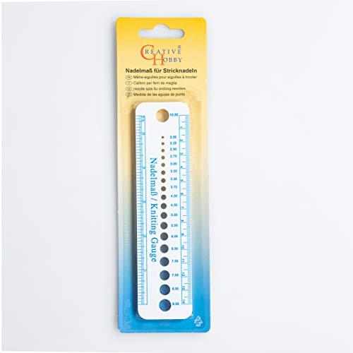 Creativ Hobby Nadelmaß für Stricknadeln Nadelschablone 2-10 mm Nadeln 827-14
