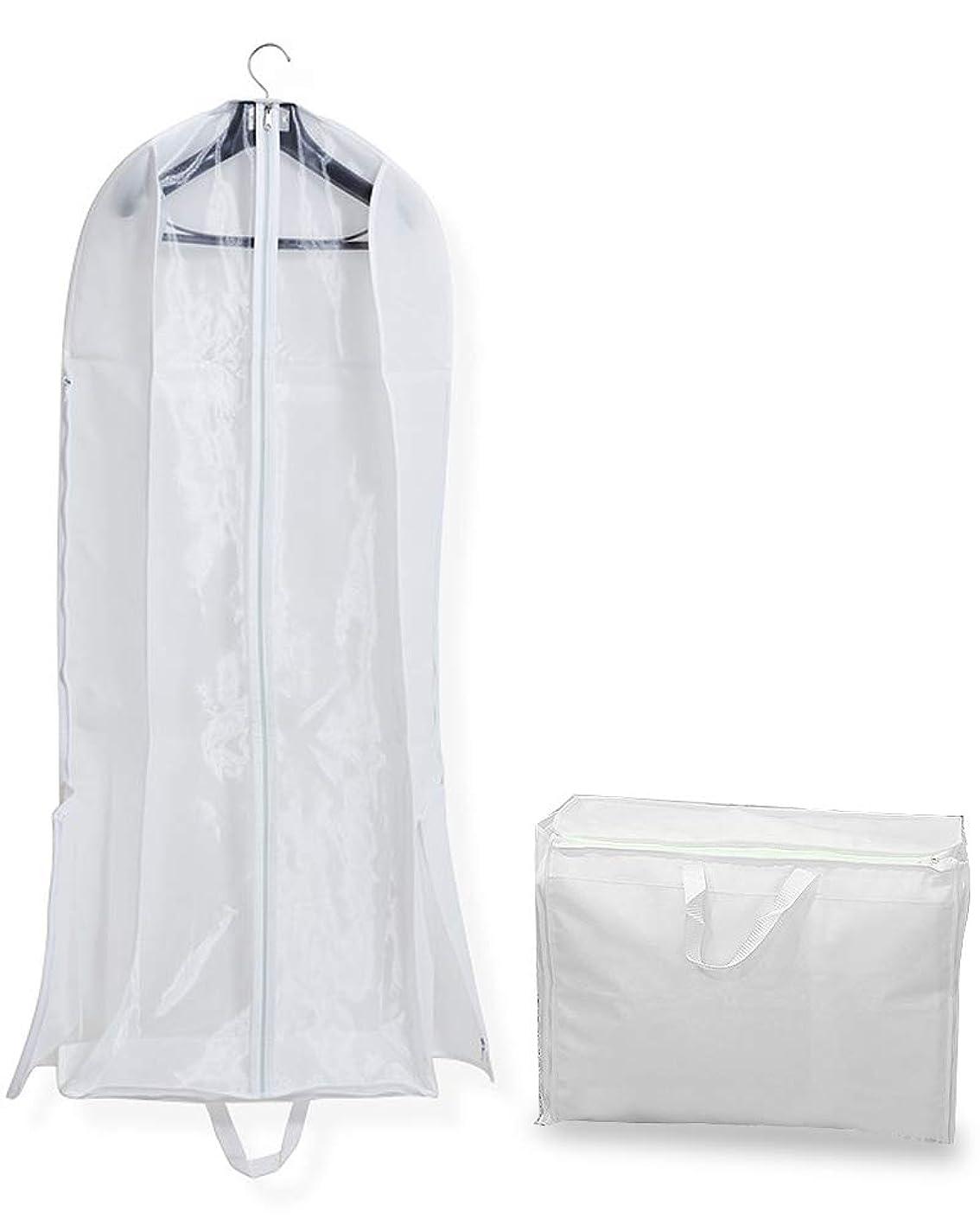 戦う故障ダメージ[ナッシュ] ドレスバッグ ガーメントバッグ ウェディングドレス スーツ 収納 カバー 機内持ち込み 軽量 大容量 160?180サイズ