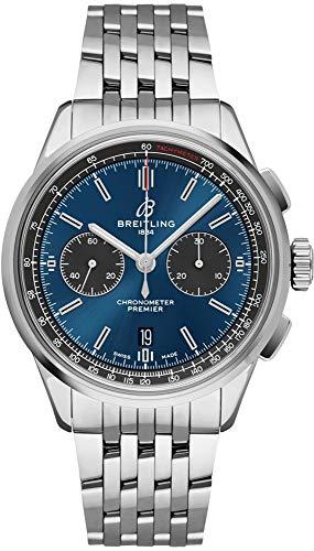 Breitling Premier B01 Reloj cronógrafo 42 esfera azul para hombre AB0118A61C1A1