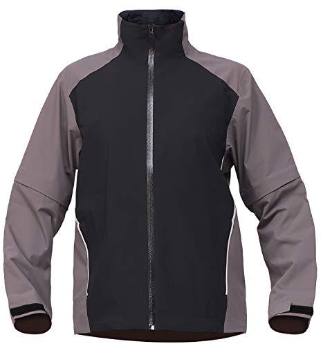 FIT SPACE Waterproof Golf Rain Jacket for Men 20K Performance Lightweight Rain Jackets for All Sports (Grey-full-zip, X-Large)