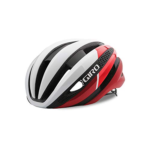 Giro Synthe MIPS Casco de Ciclismo, Unisex Adulto, Blanco Mate y Rojo,...