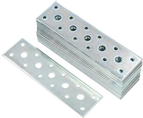 Placa con agujeros ,200 x 100 mm // 25 unidades acero galvanizado por procedimiento sendzimir GAH-Alberts