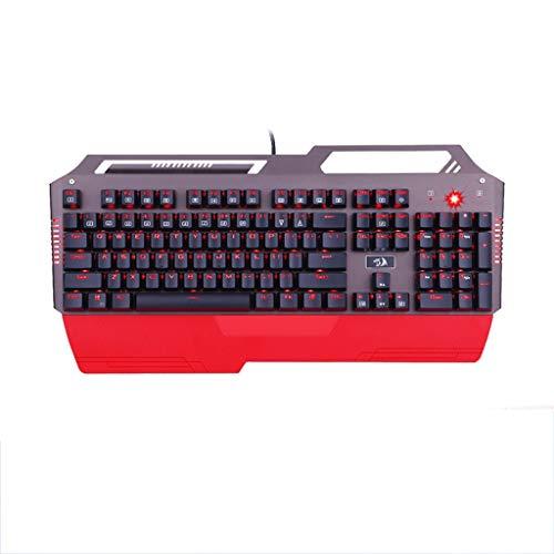 IWTGR Aurora Teclado del Eje a Prueba de Agua, Wired Keyboard Internet Cafe Juego mecánico, Personalizada Juego conmutable Teclado (Color : Red)