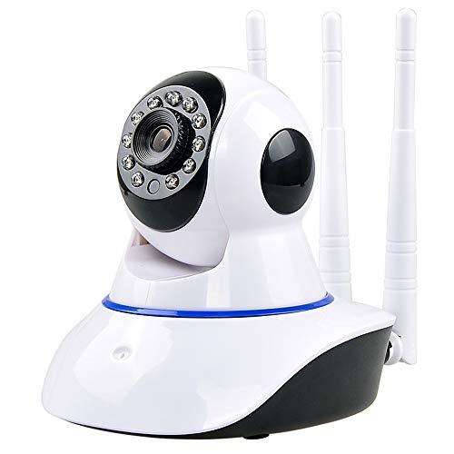 XYY WiFi Cámara IP Seguridad para El Hogar Cámara De Vigilancia IP De Interior Cámara Inalámbrica De Dos Vías De Audio Visión Nocturna Tres Antenas,1080p,EU