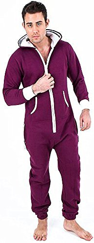 Juicy Trendz Herren Jumpsuit Jogging Trainingsanzug Anzug Overall Violett - 3