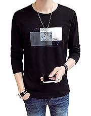 春秋 Tシャツ 長袖 メンズ カジュアル 無地 カットソー ファッション 丸襟 柔らかい 快適