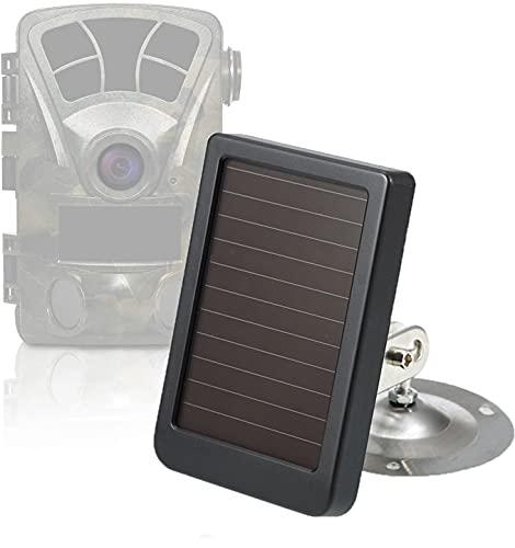 scosao Panel Solar para Cámara de Caza 9 V, 2400 mAh Recargables Cargador Solar Bateria Impermeable IP65 Portatil Power Bank Solar para Cámara Fototrampeo y Viajes de Camping