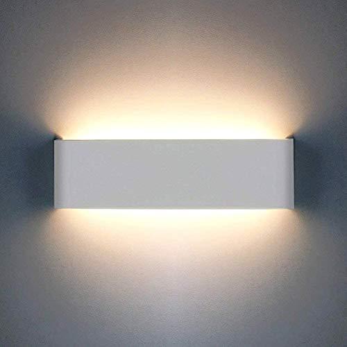 OOWOLF Wandleuchte, 12W 1200LM Wandlampe Up Down Innen mit Moderne Wandbeleuchtung Perfekt für Schlafzimmer,Badezimmer,Badlampe,Wohnzimmer,Spiegelschrank,Badleuchten,Nachttischlampe,Spiegelleucht