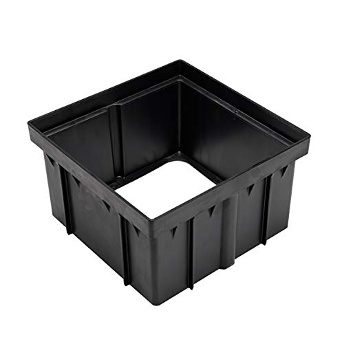 NDS 1216 Bottom Catch Basin Riser, Black Low-Profile Adapter Drain, 12 in, 12 inches