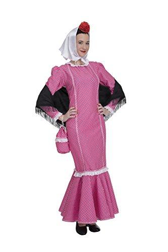 Disfraz de Madrileña Chulapa Rosa (Talla S)