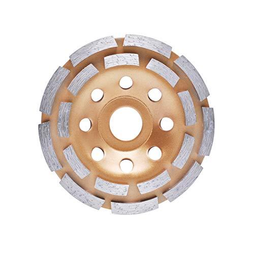 Muela de Copa Disco de Diamante, Muela de Diamante 115 mm x 22,2mm con Fila de Doble para Cortar Piedra,Hormigón, Piedra Natural, Ladrillo,Material Compuesto Poweka