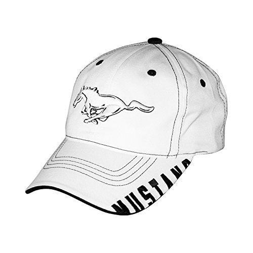 Ford Mustang Bill Edge White Baseball Cap