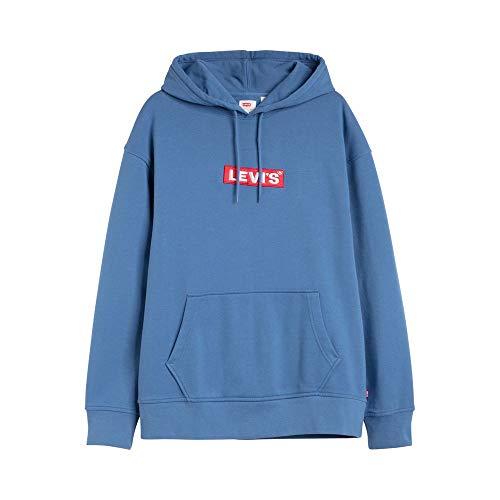 Levi's Relaxed Graphic Hoodie Sudadera, Blue (Boxtab Pop Riverside 0024), Medium para Hombre