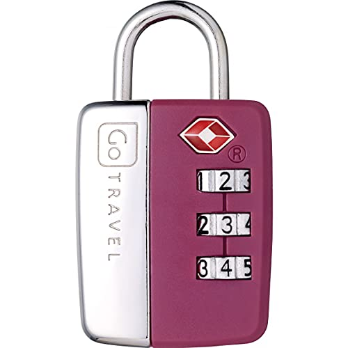PetrolScooter Distributed Go Travel Sentinella TSA Lucchetto a combinazione di sicurezza per valigie, colore viola