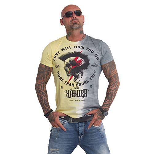 Yakuza Herren Batik Skull T-Shirt