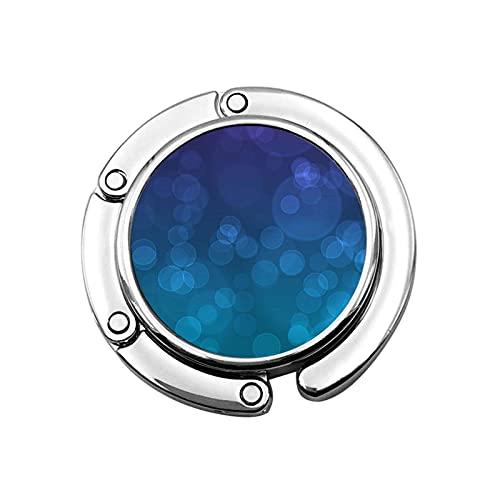 Gancho para Monedero Círculos pequeños Azul Soporte para Monedero Plegable Gancho para...