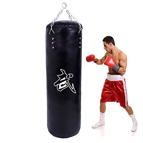 GYPPG Sandsack Zum Boxen Schulung | Ungefüllt Boxsack Mit Hängender Kette | Für Grappling, MMA, Kickboxen, Muay Thai, Karate, BJJ Und Taekwondo, Fitnessgeräte,150cm