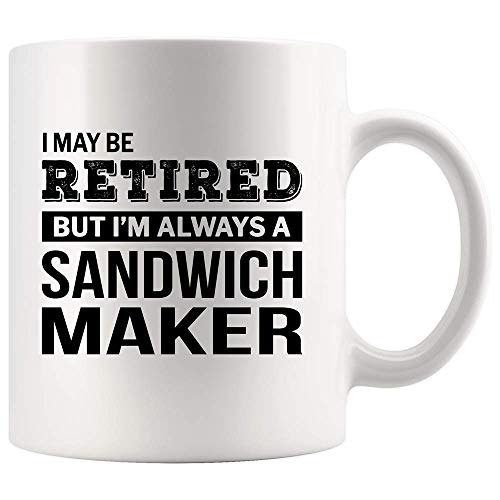 N\A Retired Sandwich Maker Kaffeetasse Lustiges Ruhestandsgeschenk für Abschiedsbecher