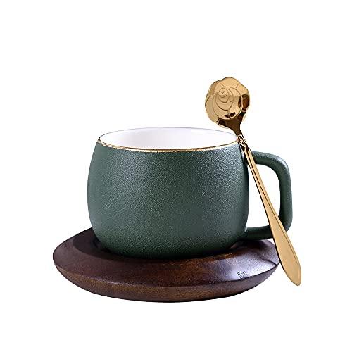 SXXYTCWL Tazas de café Europa norte de hueso rural porcelana de porcelana de cerámica de cerámica de cerámica Máquina de taza de escritorio Conjunto de té de escritorio Accesorios Hostel Cafetería (ve