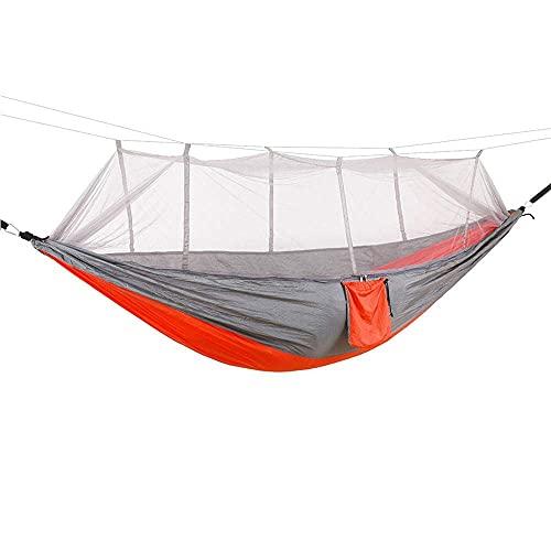 TNSYGSB Camping/Jardín Hamaca con Muebles de mosquitera 1-2 Persona Portátil Colgante Bed Strength Parachute Sueño Swing Swing-A hamacas Colgantes (Color : B)