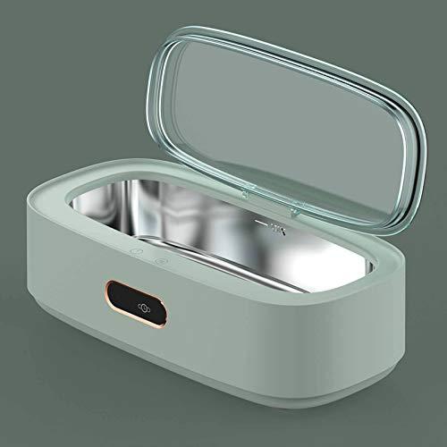 DWXN Limpiador ultrasonico Joyas Profesional, Limpiador ultrasonidos 300ml in Acero Inoxidable con 4 programas de Tiempo Apagado Automático, para Gafas, Dentaduras y Maquinilla de Afeitador
