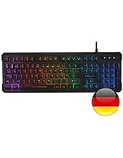 Mars Gaming MK218 RGB H-Mech Toetsenbord, Antighosting, Duitse Lay-out