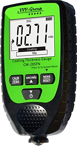 Coating Thickness Gauge CM-205FN | Best Digital Meter for Automotive Paint Thickness Measurement | Resolution 0.01mils | Automatic F/NF