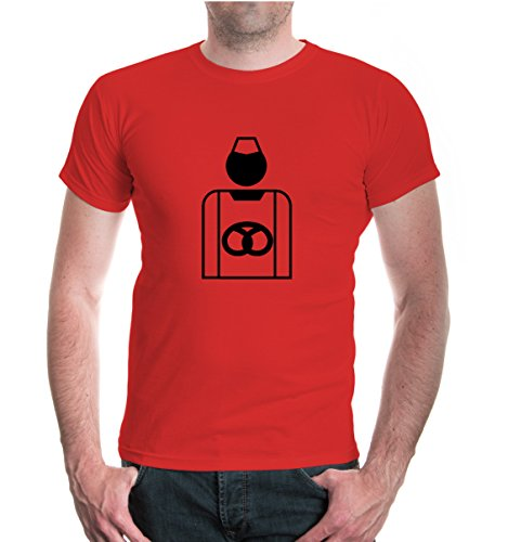 buXsbaum T-Shirt Bäcker-Piktogramm-XL-red-black
