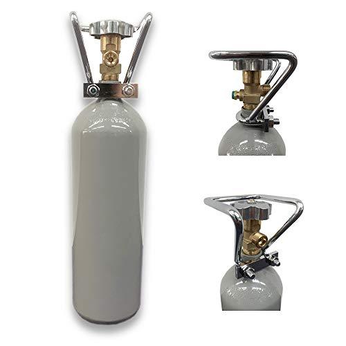DerABCFeuerlöscher.de GmbH 2 kg Kohlensäure CO2 Flasche / 2 kg CO2 Flasche/Gasflasche gefüllt mit Kohlensäure(CO2) / Neue Eigentumsflasche / 10 Jahre TÜV ab Herstelldatum/Import