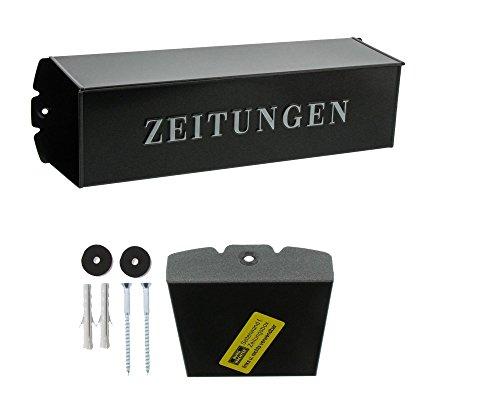 BURG-WÄCHTER, Zeitungsbox mit geprägeter Schrift, Metall, 808 E, Eisen - 6