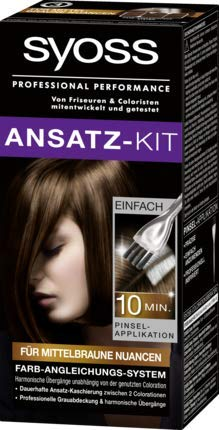 Syoss Ansatz-Kit für mittelbraune Nuancen Haarfarbe professional Performance 22 ml 1-er pack