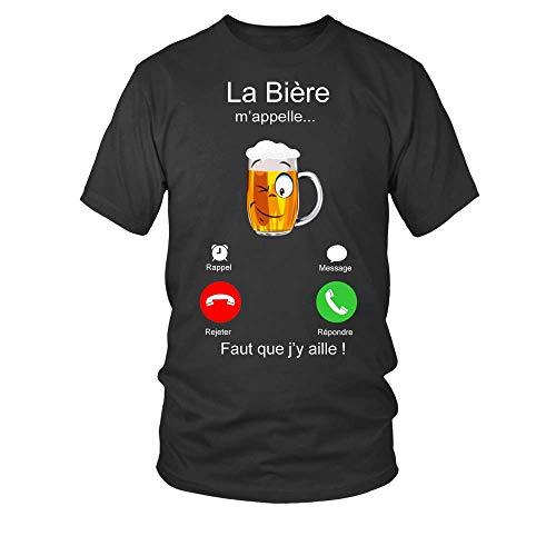 TEEZILY T-Shirt Homme La bière m'Appelle…...