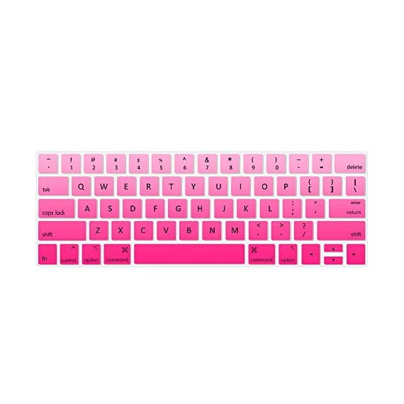 Lapogy MacBook Pro 16 inch Keyboard Cover with MAC OS Shortcut Hot Keys,Pro 13 inch 2020(A2289/A2251),Pro 16 inch 2019… 1 Only Compatible with Apple Macbook Pro 16 inch with Touch ID. Not compatible with other MacBook model. Made of premium grade transparent silicone that allows keyboard backlight to shine through High precision molding, extreme fit closely to original key, giving unparalleled typing response.