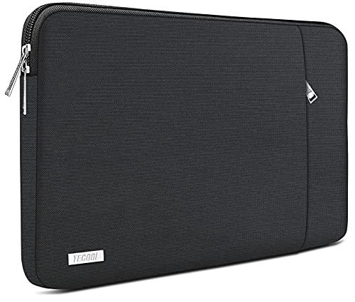 TECOOL Funda Portátil de 14 Pulgadas, Bolso Protectora Acolchada Funda Blanda para 14'' Lenovo HP Acer ASUS DELL Ordenador Tablets y MacBook Pro 15 (2016-2019), 15'' Surface Laptop 3, Negro