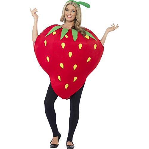 NET TOYS Süsses Erdbeerkostüm Kostüm Erdbeere Erdbeer Kostüm Damen Obst Faschingskostüm