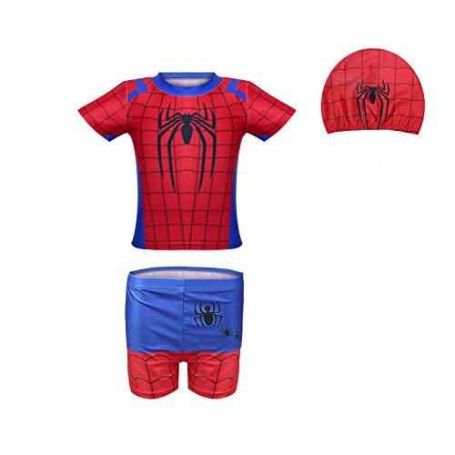 Jongens Spiderman Badmode Zwemkleding Eendelig met badpak met UV-bescherming Surfpak Strandvakantie