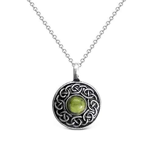 Galanta Connemara Marble Celtic Knotwork Pendant